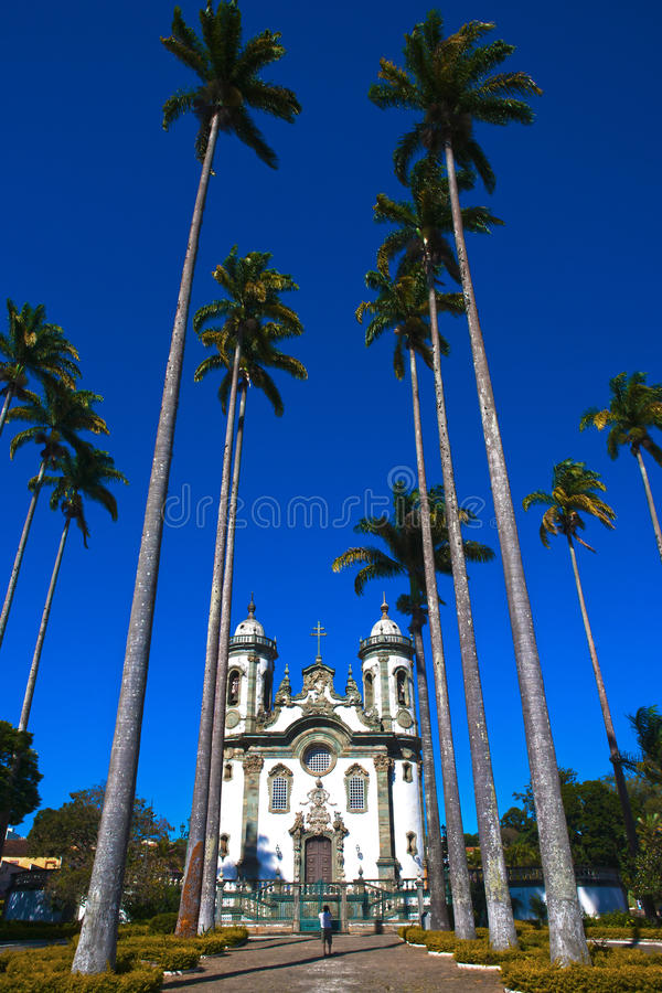sao rey minas joao Бразилии церков del gerais стоковые фотографии rf