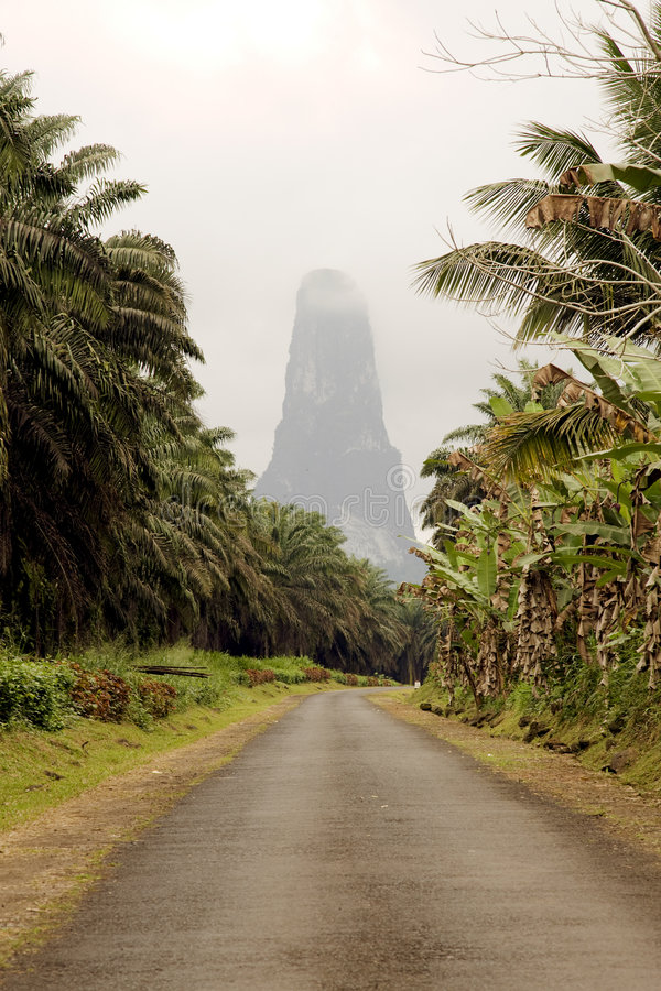 Download Sao Tome big rock stock photo. Image of path, rock, climate - 5819186