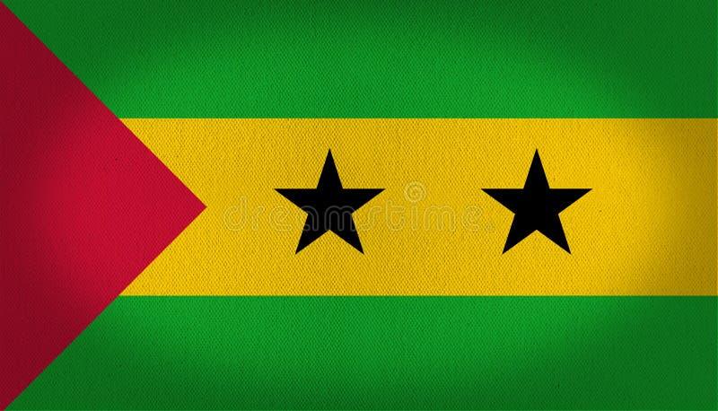 Sao- Tome und Prinzflagge lizenzfreie abbildung
