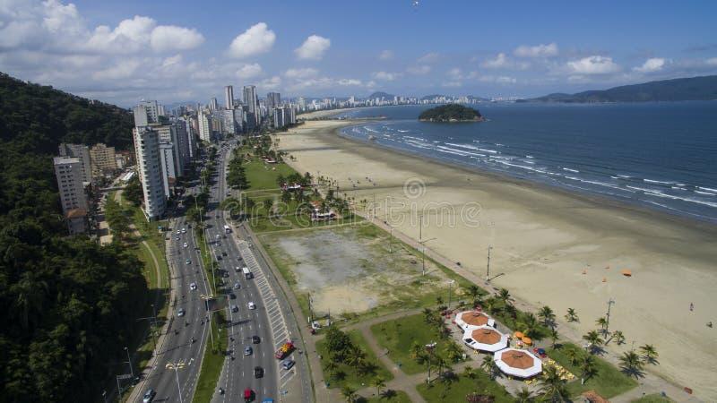 Sao Vicente Beach Brazil, playa hermosa en Suramérica fotografía de archivo libre de regalías
