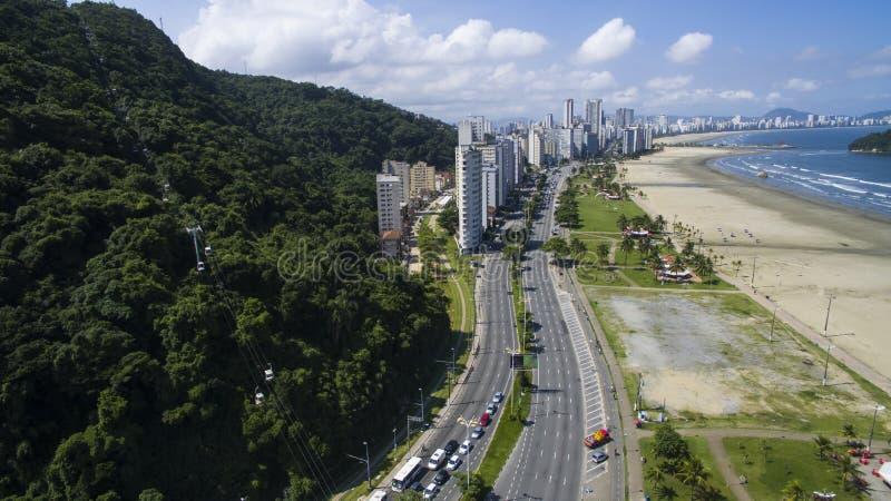 Sao Vicente Beach Brazil, playa hermosa en Suramérica fotos de archivo