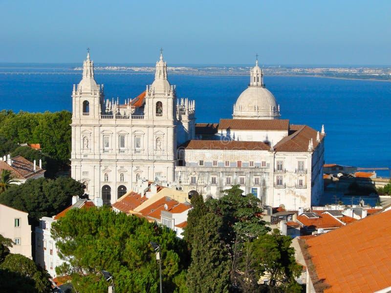 Sao Vicente de Fora in Lisbon royalty free stock photo