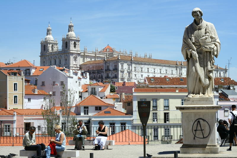 Sao Vicente De Fora Monastery em Lisboa fotos de stock