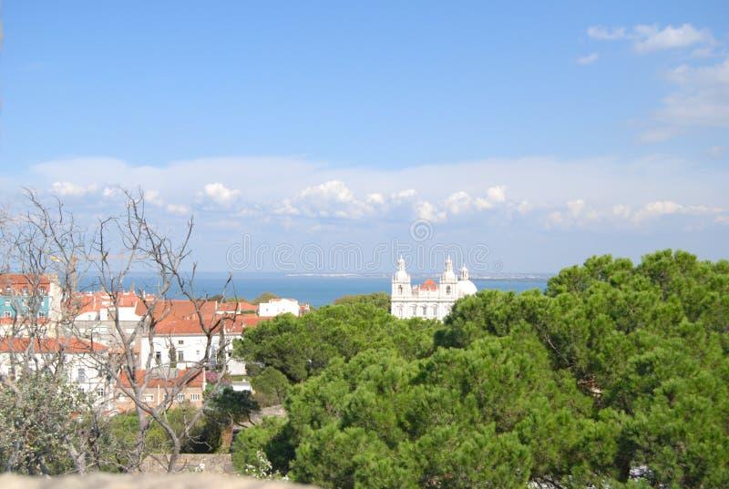Sao Vicente de Fora Monastery, Lissabon, Portugal arkivbilder