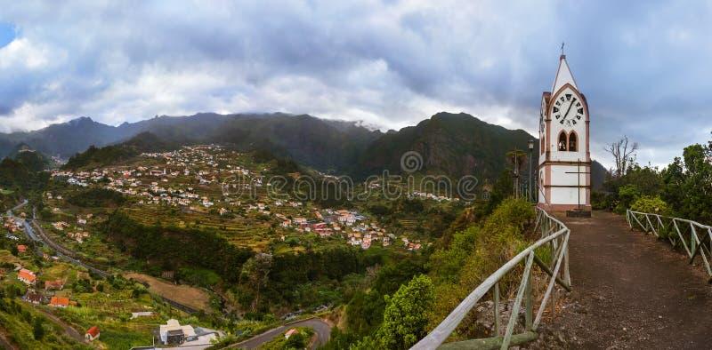Sao Vicente - Madeira Portugal del pueblo de montaña fotografía de archivo libre de regalías