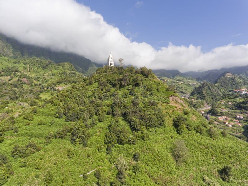 Sao Vincente, madery wyspa, halny panoramiczny widok zdjęcie royalty free