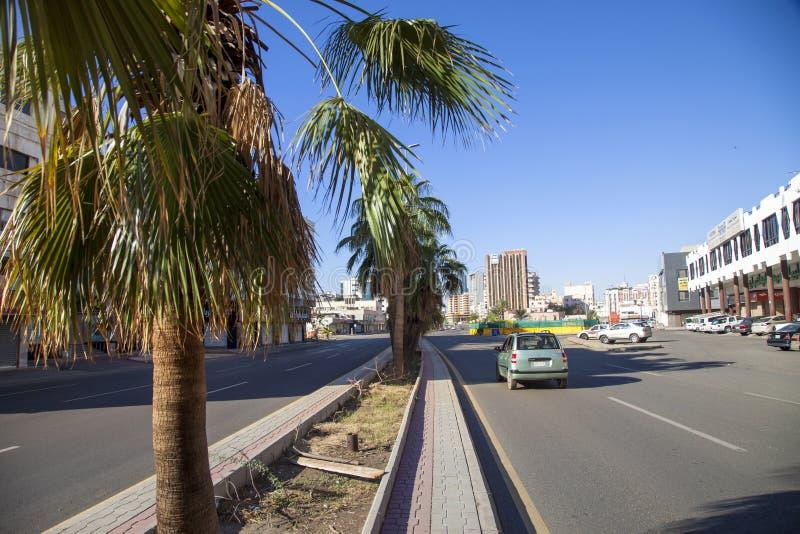 Saoedi-arabische Jeddah 2 de Oude stad van December 2018 in de Oude stad van Jeddah in Jeddah, Saudi-Arabië dat als Historische J royalty-vrije stock fotografie
