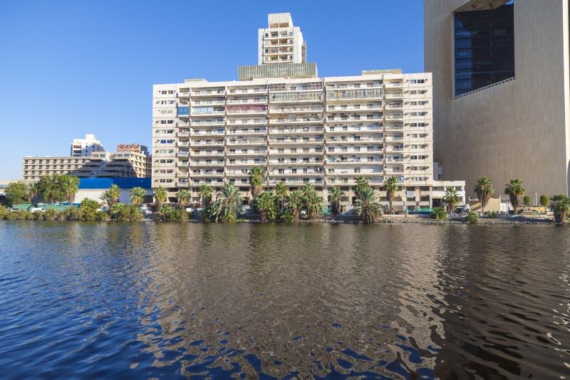 Saoedi-arabische Jeddah 2 het Moderne flatgebouw van December 2018 met blauwe hemel, een plaats om in de stad te leven Jeddah Sau stock foto