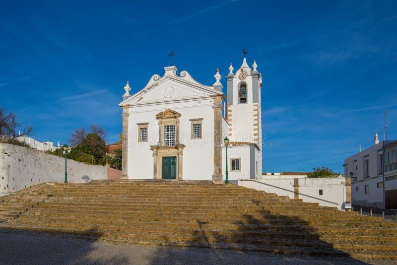 SaoMartinho kyrka i den Estoi byn, Portugal royaltyfria foton