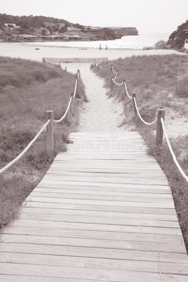 Saona小海湾海滩,福门特拉岛;拜雷阿尔斯;海岛;西班牙 图库摄影
