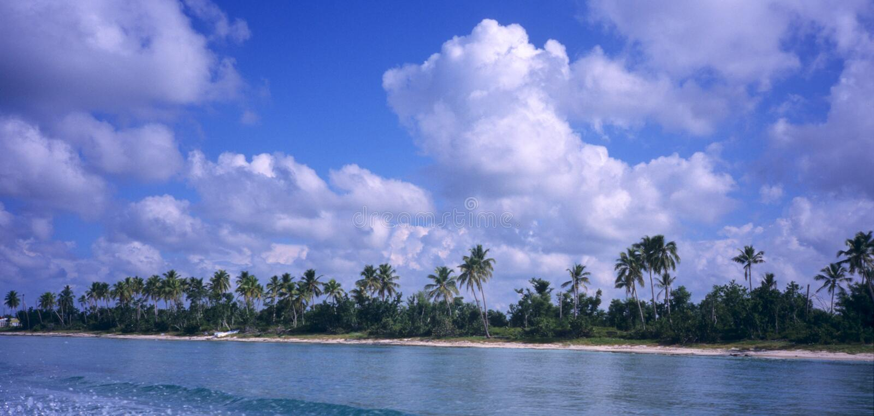 Saona Island Coastline -Dominican Republic Stock Photography