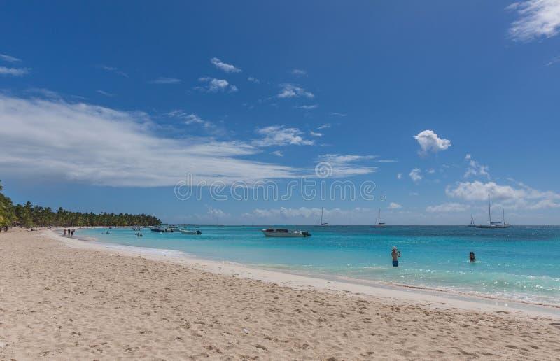 Saona island. In the Dominican Republic stock photos