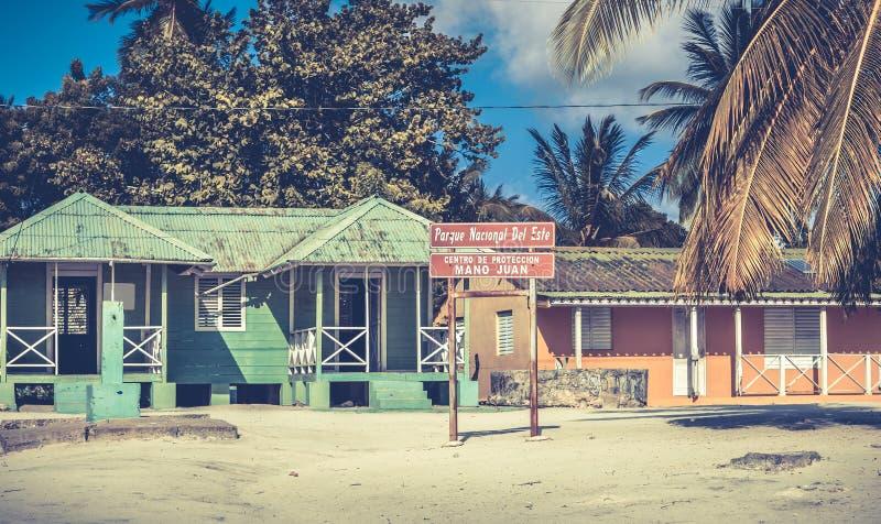 Saona island, Dominican Republic. Mano Juan national park on Saona island in Dominican Republic royalty free stock photos