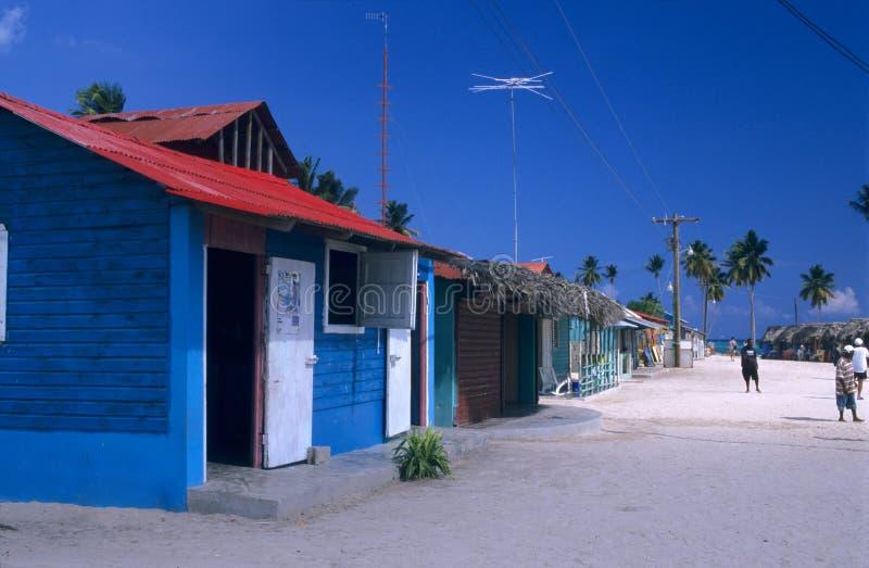 Saona island village- Dominican republic. Saona island village - Dominican republic royalty free stock photo