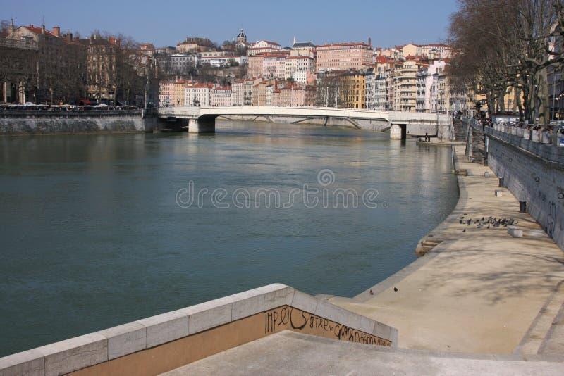 saone ποταμών τραπεζών στοκ εικόνα