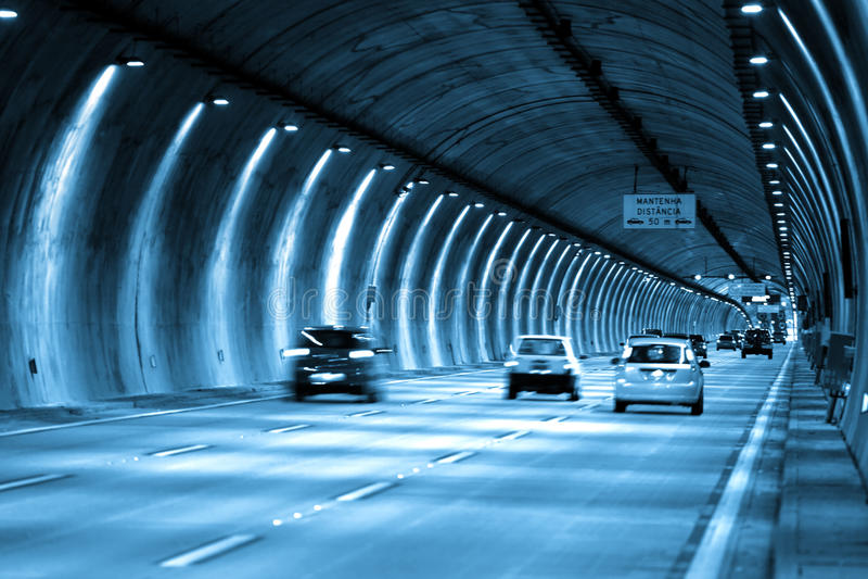 SaoPaulo tunelu przejażdżka obraz royalty free