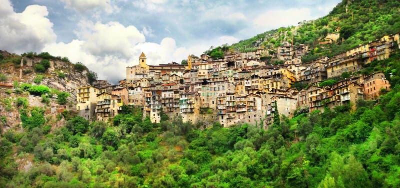 Saorge, Alpes Maritimes, França foto de stock royalty free
