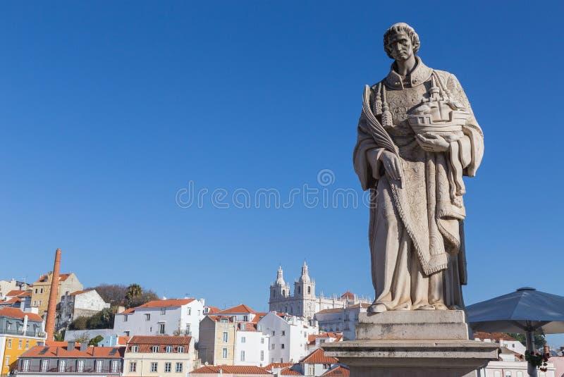 SaoVicente staty i Lissabon Portugal arkivbild