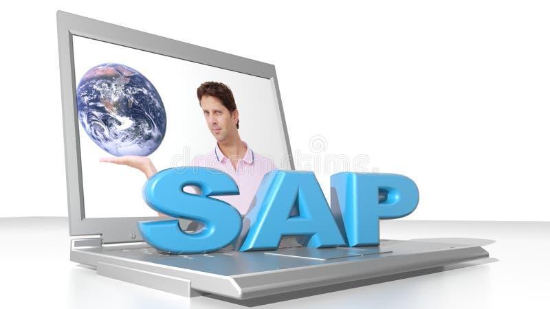 SAP和计算机 免版税库存照片
