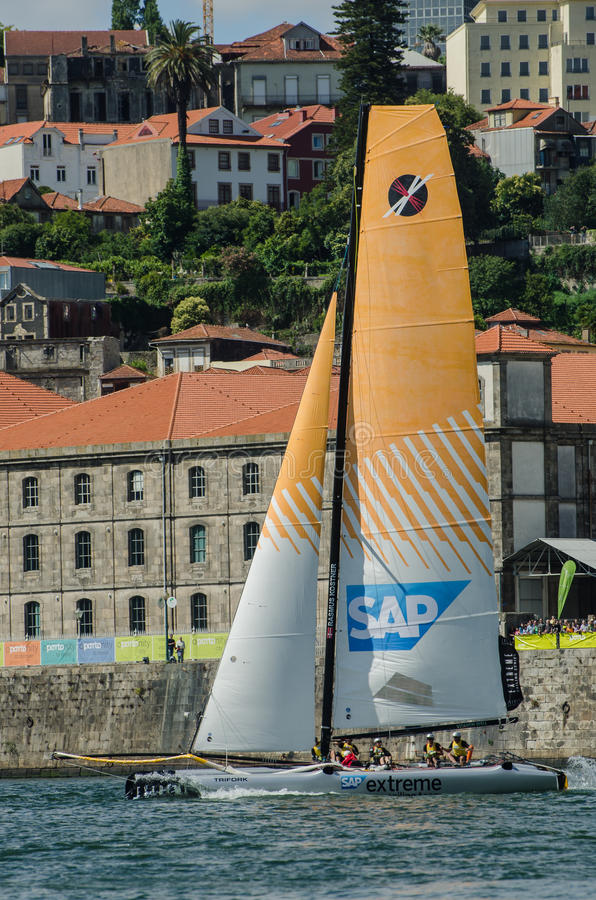Download SAP Extreme Sailing Team Compete Editorial Stock Photo - Image of sailor, river: 25609893