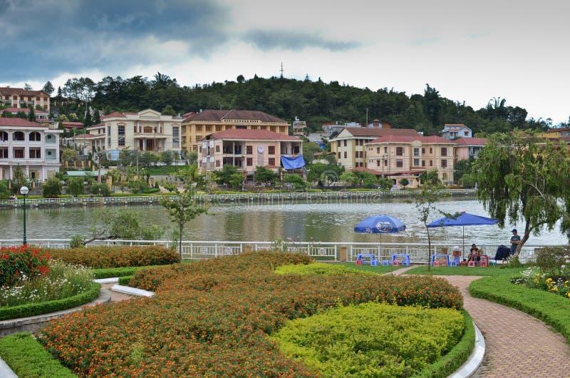 Sapa, Vietnam stock afbeelding