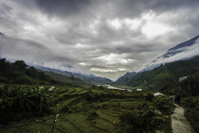 sapa vietnam fotografering för bildbyråer