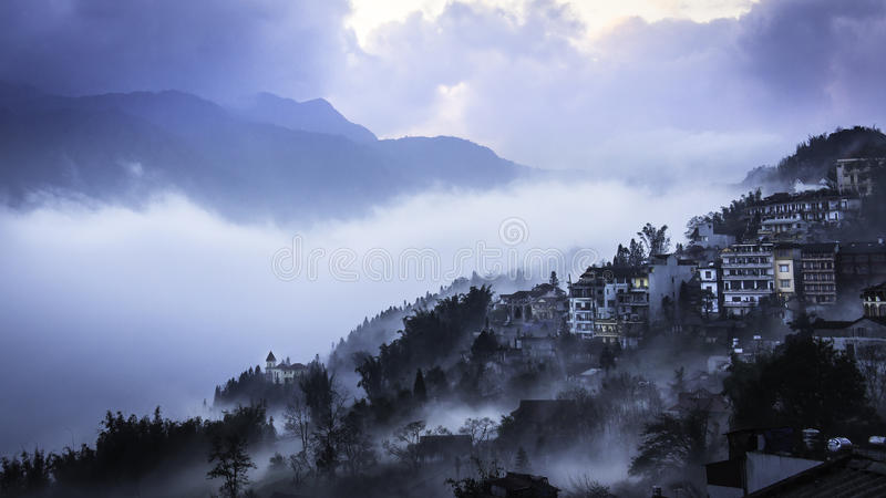 Sapa, Vietname do norte fotografia de stock royalty free
