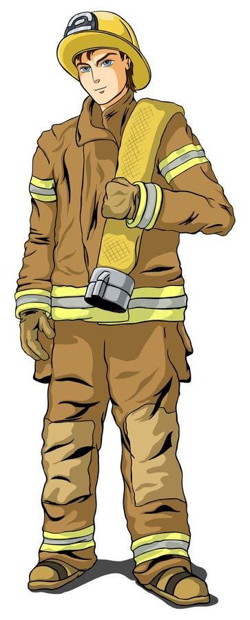 Sapador-bombeiro ilustração stock