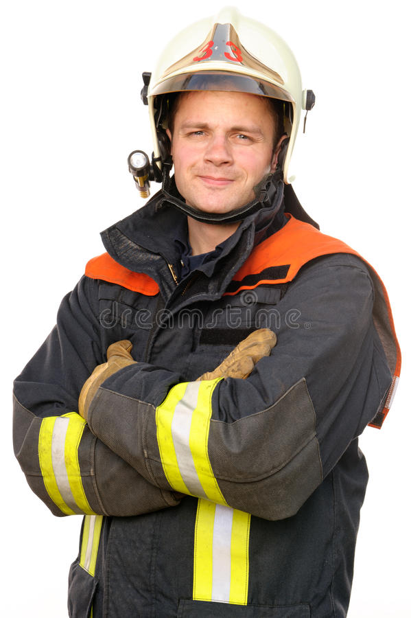 Sapador-bombeiro imagem de stock