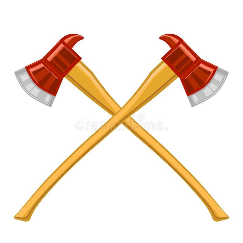 Sapador-bombeiro Cross Axes Icon ilustração royalty free