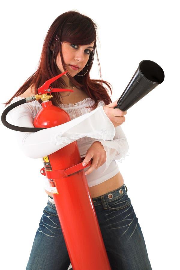 Sapador-bombeiro da beleza foto de stock