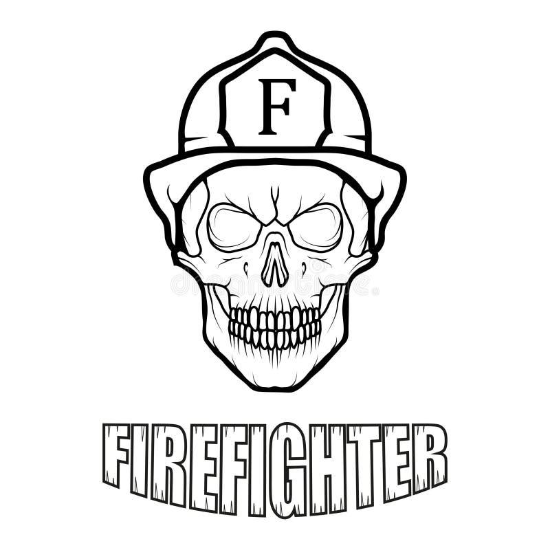 Sapador-bombeiro Logo Glasgow Fire Department novo ilustração royalty free