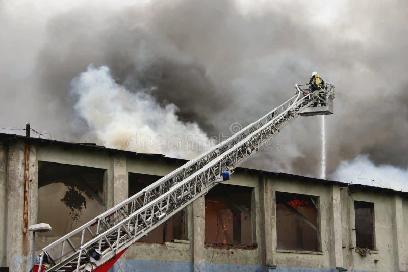 Sapador-bombeiro no dever #2 fotografia de stock royalty free