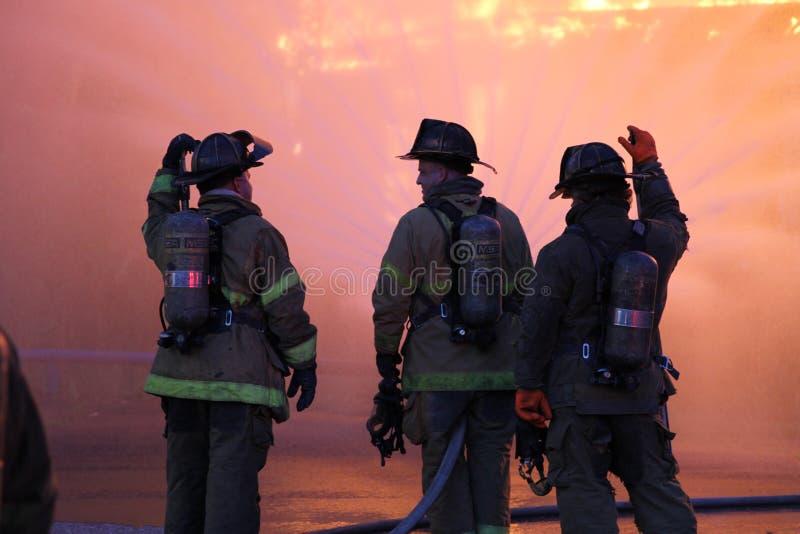 Sapadores-bombeiros de Detroit imagens de stock
