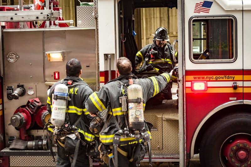 Sapadores-bombeiros de New York foto de stock royalty free