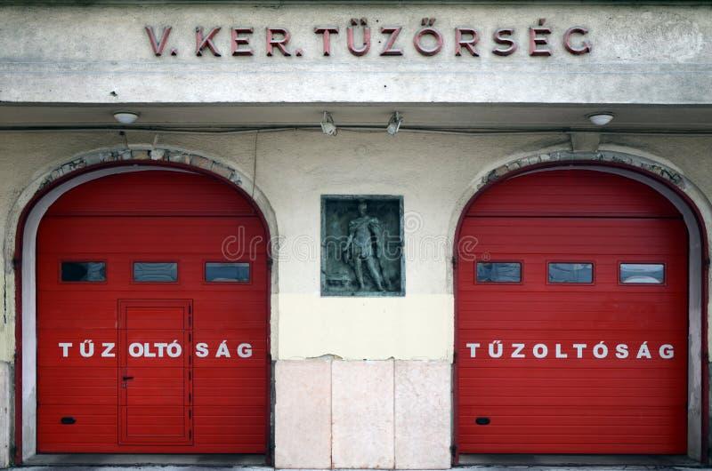 Sapadores-bombeiros em Hungria, Budapest fotografia de stock