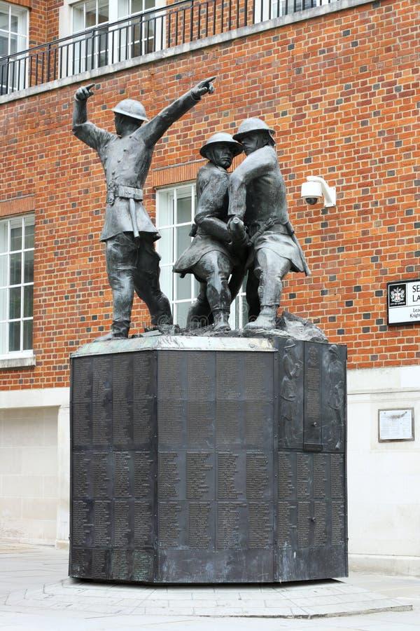 Sapadores-bombeiros nacionais memoráveis fotografia de stock royalty free