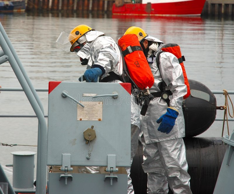 Sapadores-bombeiros navais imagens de stock