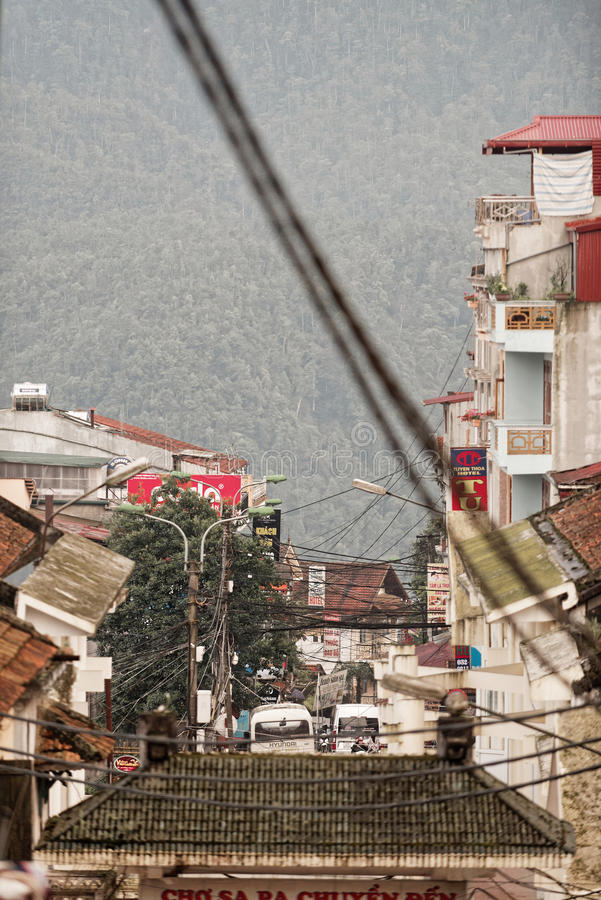 Sapadorp in Vietnam royalty-vrije stock afbeelding