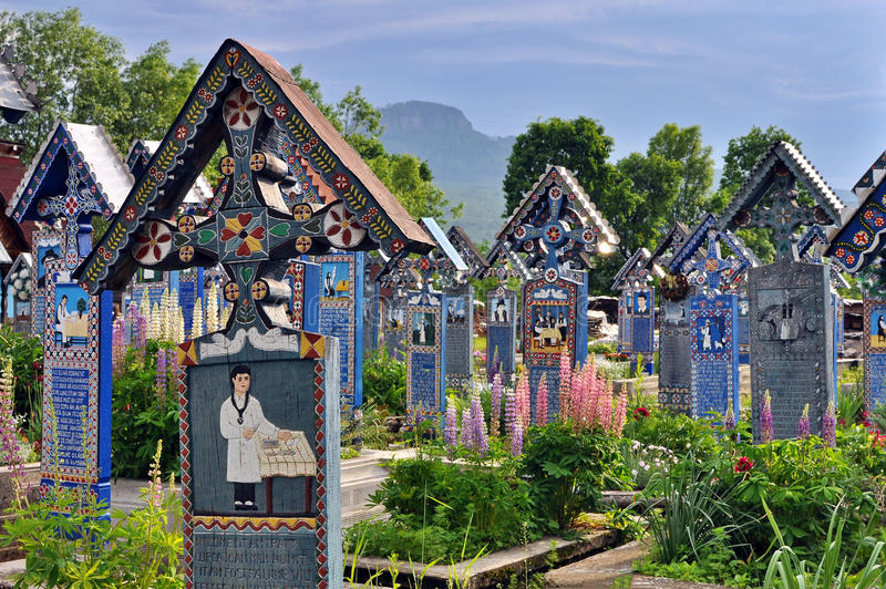 Download Sapanta Merry Cemetery In Romania Stock Image - Image of merry, humour: 57626211