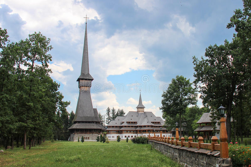 Sapanta Peri Monastery, Maramures arkivfoto