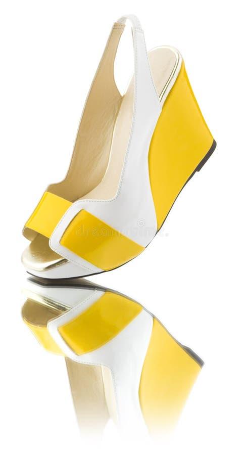 Sapata amarela foto de stock royalty free