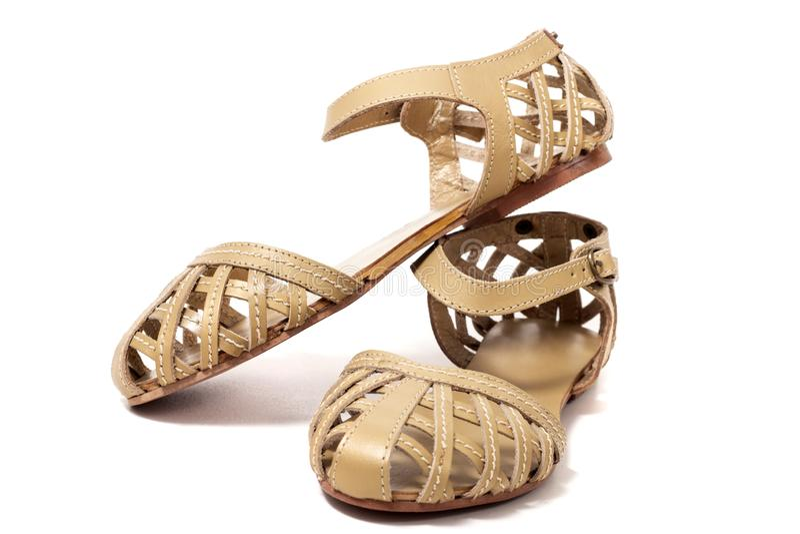 Sapata da sandália da mulher imagens de stock royalty free