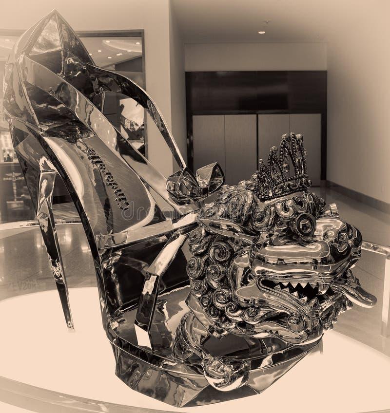 Sapata do ` s de Cinderella no Mgm Grand no porto nacional, Maryland fotos de stock