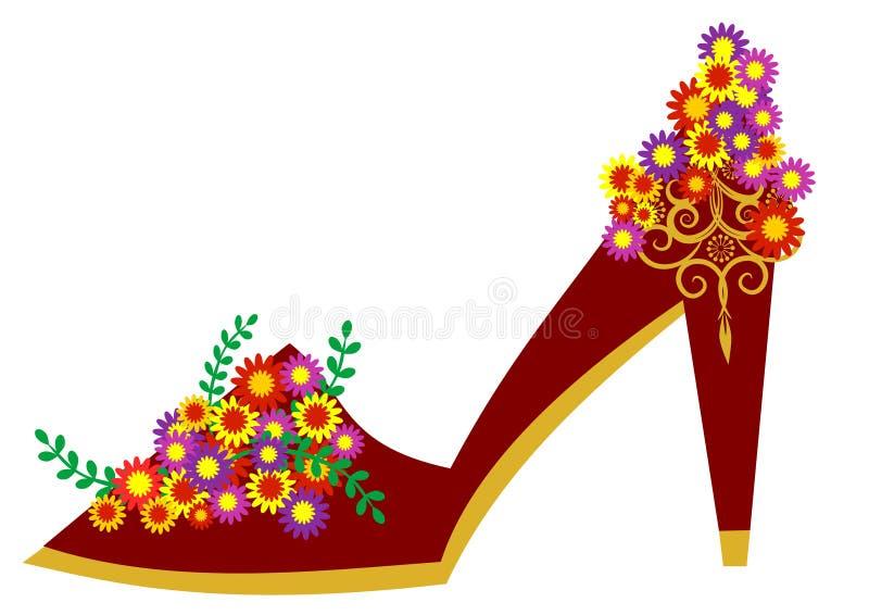 Sapata floral ilustração royalty free