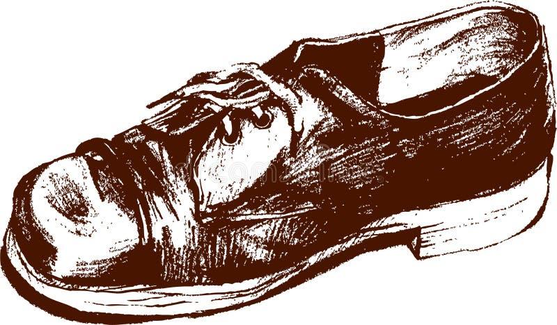 Sapata velha ilustração stock