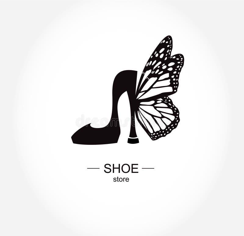 Sapataria do logotipo, loja, coleção da forma, etiqueta do boutique ilustração royalty free