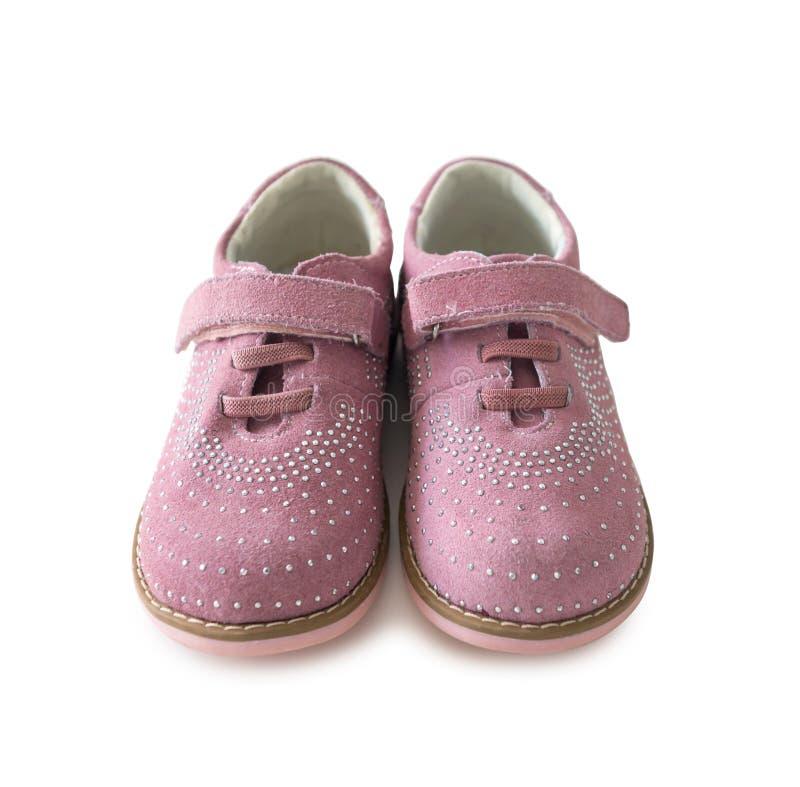 Sapatas criançolas cor-de-rosa bonitas foto de stock royalty free