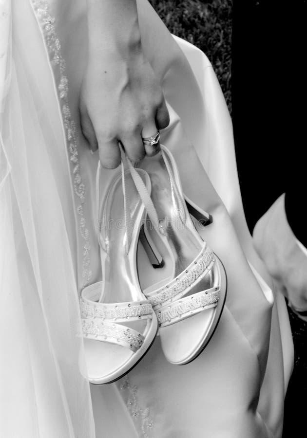 Sapatas da noiva imagens de stock royalty free