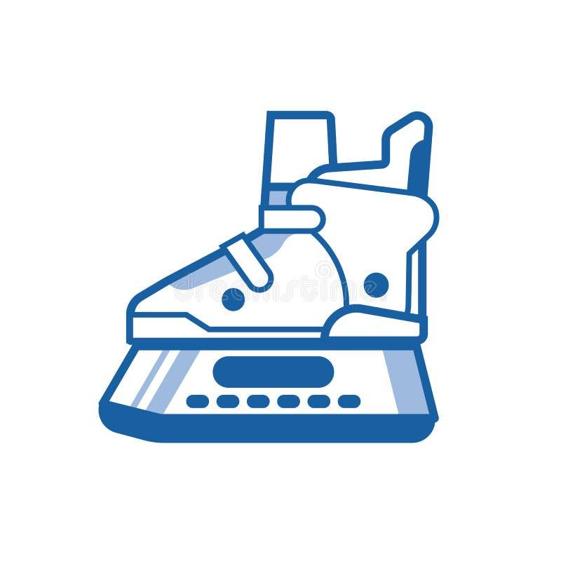 Sapatas da patinagem no gelo ilustração stock